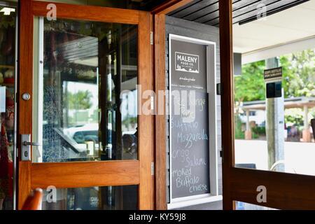 Tür auf einen Coffee shop Tbilisi, Tbilisi Food Company, Queensland, Australien - Stockfoto