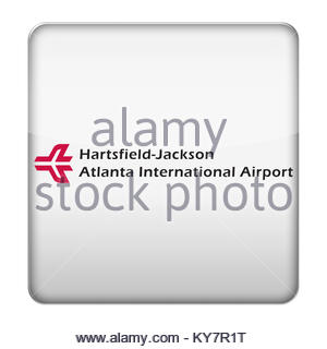 ATL-Hartsfield Jackson Atlanta International Airport Symbol logo - Stockfoto