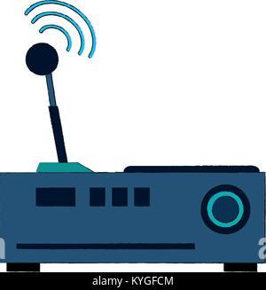 WLAN-Router-Vektor-Skizze Vektor Abbildung - Bild: 133883974 - Alamy