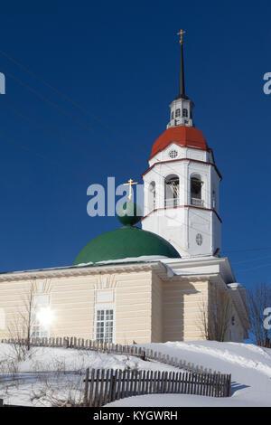 Kirche der Himmelfahrt der Jungfrau in der Stadt Totma, Vologda Region, Russland - Stockfoto