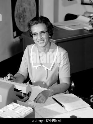 Katherine Johnson, Katherine Coleman Goble Johnson, Afro-amerikanische Mathematiker, der Beiträge für die Luft- - Stockfoto