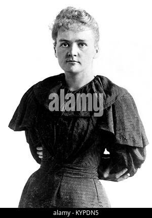 Marie Curie. Mit dem Nobelpreis ausgezeichneten Wissenschaftler, Marie Sklodowska Curie (1867-1934). Foto c. 1894/5 - Stockfoto