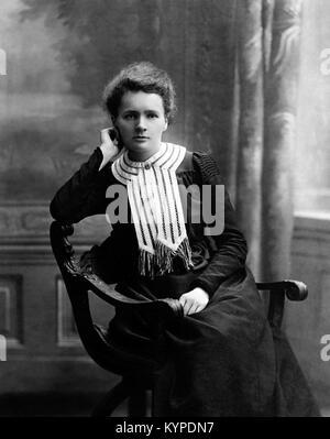 Marie Curie. Mit dem Nobelpreis ausgezeichneten Wissenschaftler, Marie Sklodowska Curie (1867-1934). Foto c 1903 - Stockfoto