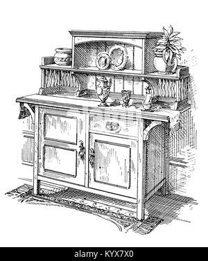 bildende kunst jugendstil m bel stuhl um 1900 holz leder unbekannter k nstler. Black Bedroom Furniture Sets. Home Design Ideas