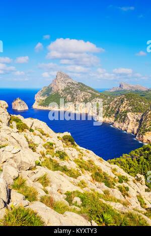 Cap de Formentor, Mallorca, Balearen, Spanien, Europa - Stockfoto