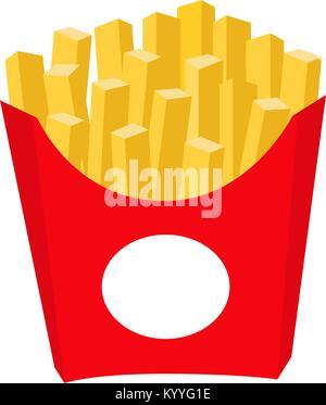 Bunte Pommes Chips fast food Symbol Poster - Stockfoto
