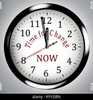 Zeit für Veränderung - Uhr business Abbildung: Idee, Konzept - Stockfoto