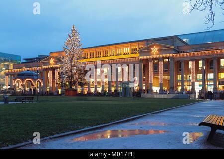 Weihnachten und das neue Jahr Stadt. Stuttgart, Deutschland - Stockfoto