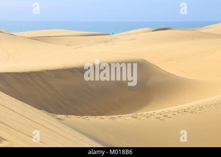 Gran Canaria - die Dünen von Maspalomas sand Wüstenlandschaft. - Stockfoto