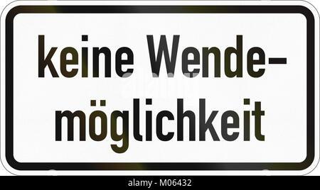 Deutsche zusätzliche Schild - kein Einschalten möglich. - Stockfoto