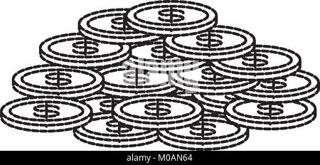 Geld Münzen Symbol - Stockfoto