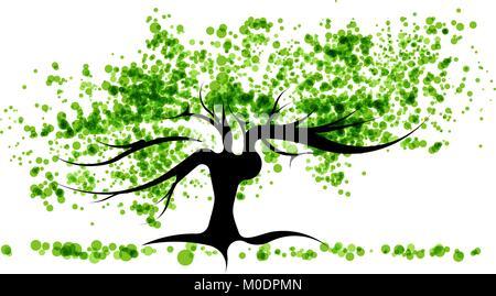 Grüner Baum - Stockfoto