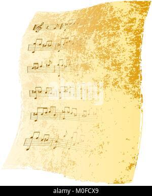 Alte Musik - Papier Hintergrund - Stockfoto