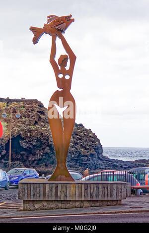 Statue der fischerfrauen von Teneriffa und Garachico - Stockfoto