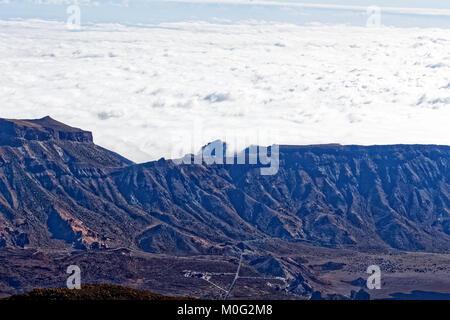 Blick auf Caldera auf dem Berg Teide, Teneriffa, Spanien - Stockfoto