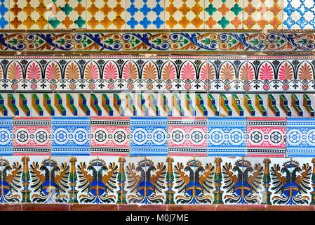 buntes mosaik fliesen muster an der wand stockfoto bild 14995706 alamy. Black Bedroom Furniture Sets. Home Design Ideas