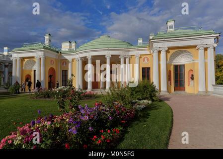 Puschkin, St. Petersburg, Russland - 20 September 2015 : Eingang Achat Zimmer des kalten Bad Pavillon in Catherine - Stockfoto