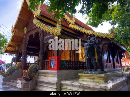 Asien, Thailand, Chiang Mai, Wat Phra That Doi Suthep Tempel - Stockfoto
