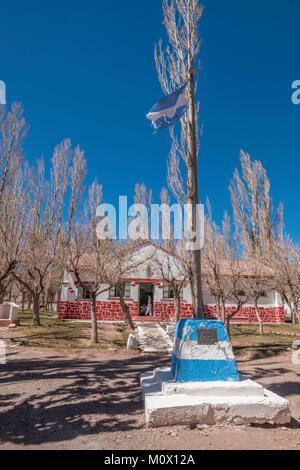 Argentinien, San Juan Provinz, Barreal, Rio de Los Patos Valley, Las Hornillas Polizeistation - Stockfoto