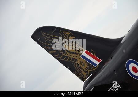 RAF BAe Systems Hawk T.1 Schwanz details - Stockfoto
