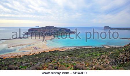 Eine herrliche Landschaft von Balos Beach auf Kreta, Griechenland - Stockfoto