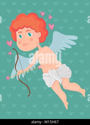 Valentinstag-Amor Stockfoto