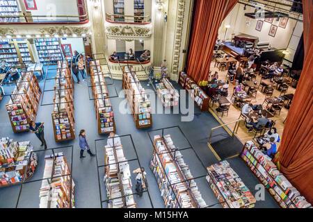 Argentinien, Buenos Aires, Barrio Norte, El Ateneo Grand Splendid Buchhandlung Bücher, Repurpose, ehemaliges Theater, - Stockfoto