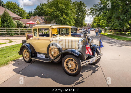 Modell T Autos in Amana Kolonien, Iowa - Stockfoto