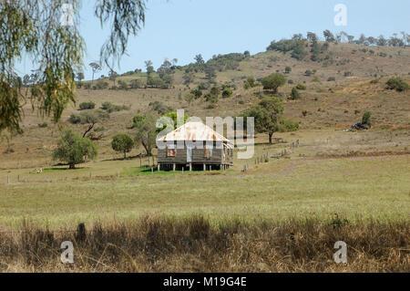 Alte Queensland Bauernhaus, Darling Downs, Queensland, Australien - Stockfoto