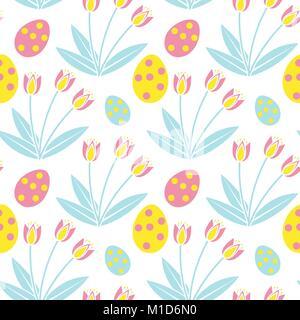 Süße Ostern nahtlose Muster. Feder sich wiederholenden Texturen. Kinder, Baby, Kinder, endlose Hintergrund, Papier, - Stockfoto
