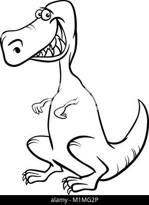Cartoon Tyrannosaurus Dinosaurier für Malbuch Vektor Abbildung ...