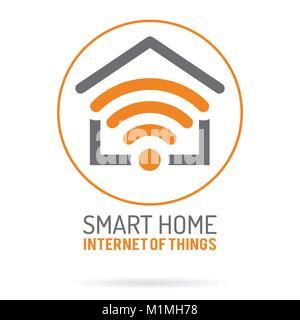 Smart Home und Internet der Dinge Logo - Stockfoto