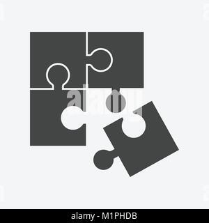 Puzzle Symbol flachbild Abbildung - Stockfoto