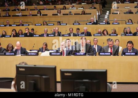 New York, NY, USA. 31 Jan, 2018. Vereinten Nationen, New York, USA, 31. Januar 2018 - die Teilnehmer während der - Stockfoto