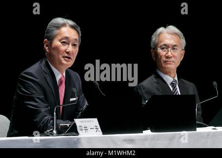(L und R) Kazuo Hirai, Sony Director's, repräsentative Corporate Executive Officer, President und Chief Executive - Stockfoto
