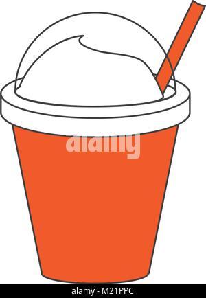 Frappe Kaffee Tasse - Stockfoto