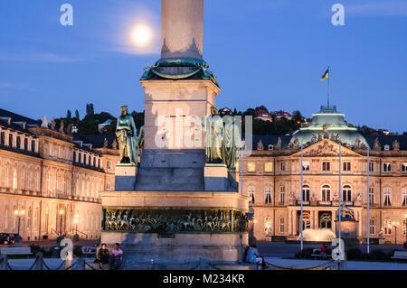 Schlossplatz Stuttgart, Baden-Württemberg, Deutschland, Europa - Stockfoto