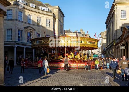 Stall Street, Bath, Somerset, England, Vereinigtes Königreich, Weihnachten 2017 - Stockfoto