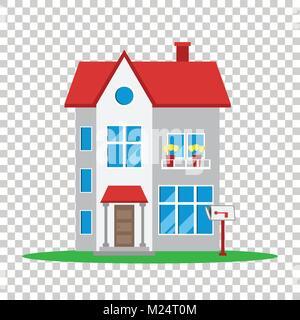 Haus Vector Illustration im flachen Stil auf isolierten Hintergrund - Stockfoto