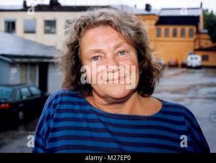 MAJ SJÖWALL Kriminalität Schriftsteller Malmö 2004 ist sie zusammen mit ihrem Partner Per Wahlöö original Thema - Stockfoto
