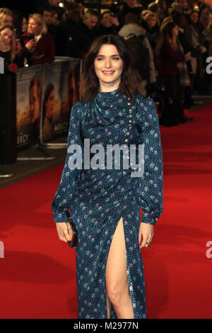 London, Großbritannien. 6 Feb, 2018. Rachel Weisz, die Barmherzigkeit - Weltpremiere Curzon Mayfair, London, UK, - Stockfoto
