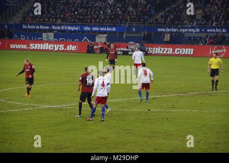 Die Fußball-Spieler aus dem Team Hamburger Sportverein HSV Hamburg - Stockfoto