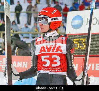 Richard Freitag (Nickelhütte-Aue) Krieg auf Rang acht bester DSV-Springer am Sonntag - 2. Wettkampf Weltcup-Skispringen - Stockfoto