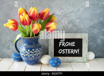 Frohe ostern in deutscher sprache frohe ostern und for Gelbe tafel