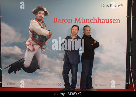 "Jan Josef Liefers, Tayfun Bademsoy, Fototermin 'Muenchhausen"", Hamburg, 29.10.2012"