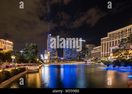 Die Brunnen des Bellagio in Las Vegas Strip am 12. Juni 2015 in Las Vegas. - Stockfoto