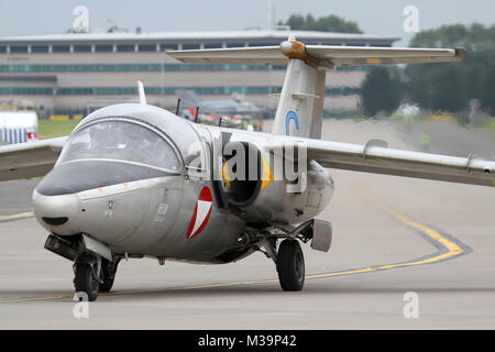 Der österreichischen Luftstreitkräfte SAAB 105 ÖE - Stockfoto