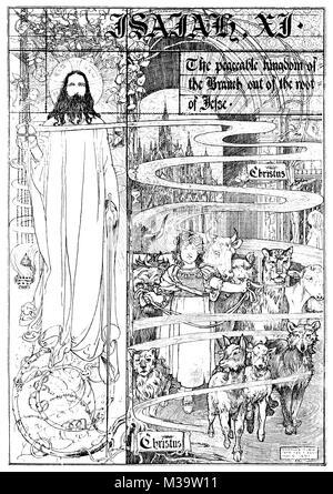 Kranke 682 Bibel Abbildung: Jesaja XI, von Charles Robinson von 1895 Das Studio einer illustrierten Zeitschrift - Stockfoto