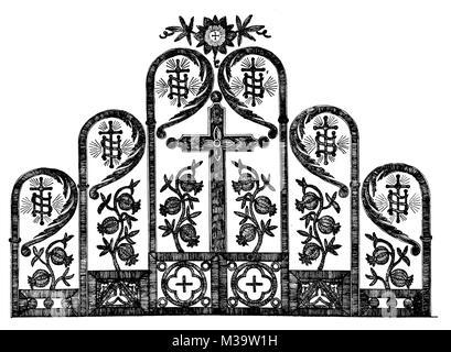 Design für eine gestickte Kirche Lectern-Fall Linie Abbildung von Roberta D Tod ab 1895 das Studio einer illustrierten - Stockfoto