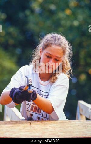 Chelsea Victoria Clinton (27. Februar 1980 geboren) ist das einzige Kind der ehemalige US-Präsident Bill Clinton - Stockfoto